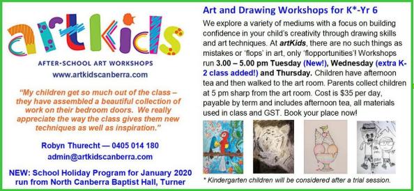 art kids after school workshops