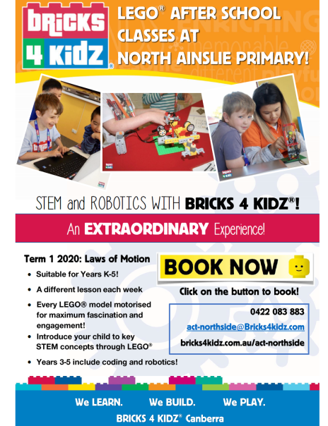 LEgo after school classes at North Ainslie