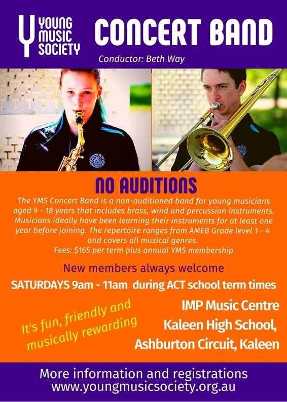 Young Music Society Concert Band flyer
